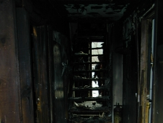 Old Stone Gallery fire picture.Main hallway